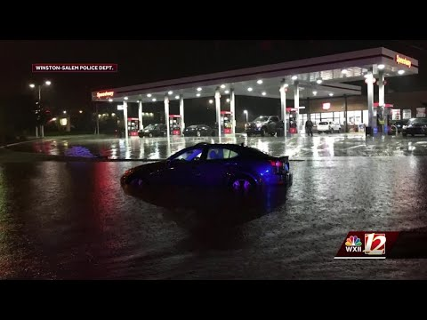 Heavy Flooding Across The Piedmont Triad From Remnants Of Florence
