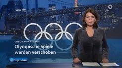 tagesschau - Die 20-Uhr-Ausgabe im Livestream: Olympische Spiele verschoben, Ausgangssperre in GB