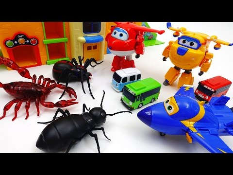 Thumbnail: Go Go Super Wings, Tayo School is Under Attack by Monster Bugs