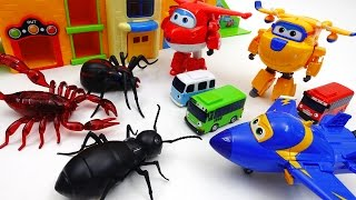 Go Go Super Wings, Tayo School is Under Attack by Monster Bugs thumbnail