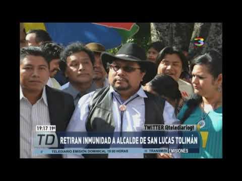 Retiran inmunidad al alcalde de San Lucas Tolimán