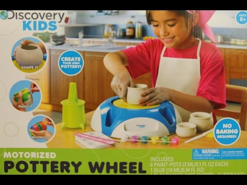 Discovery kids motorized pottery wheel youtube for Motor kits for kids