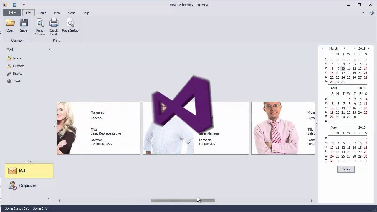 DevExpress WinForms Grid: Tile View - Layout & Appearance