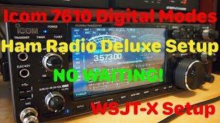 Icom 7610 HRD DM780 WSJT X Basic Setup by Ham Radio with K0PIR
