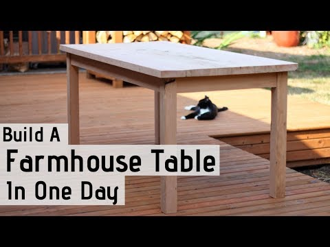 Build A Farmhouse Table In One Day