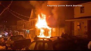 Watch as firefighters pull in to a house fire the 100 block of gay street tamaqua, pa. first clip video was provided by justin david startzel and s...