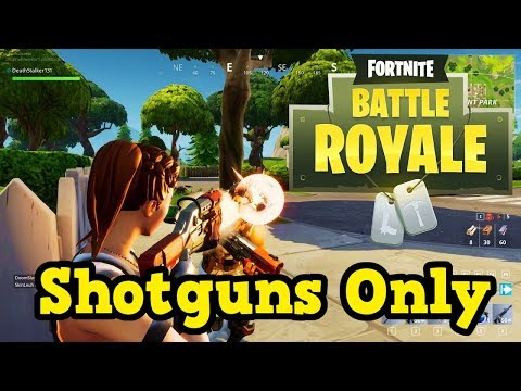 fortnite battle royale shotgun only challenge youtube