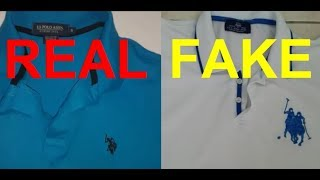 Real vs Fake U.S.P.A Polo shir…