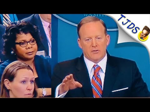 Sean Spicer Freaks Out On Black Woman At Press Conference