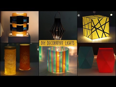 6 Easy Decorative Lights | Home Decorative Craft Ideas | Unbelievably Helpful DIY