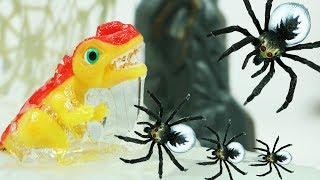 공룡메카드 모놀로포 액괴 거미 장난감 배틀 티라노사우루스 브라키오사우루스 카르노 스테고사우루스 출동 Dino Mecard Tinysour Dinosaur Toys