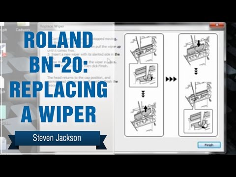 roland bn 20 replacing a wiper youtube. Black Bedroom Furniture Sets. Home Design Ideas