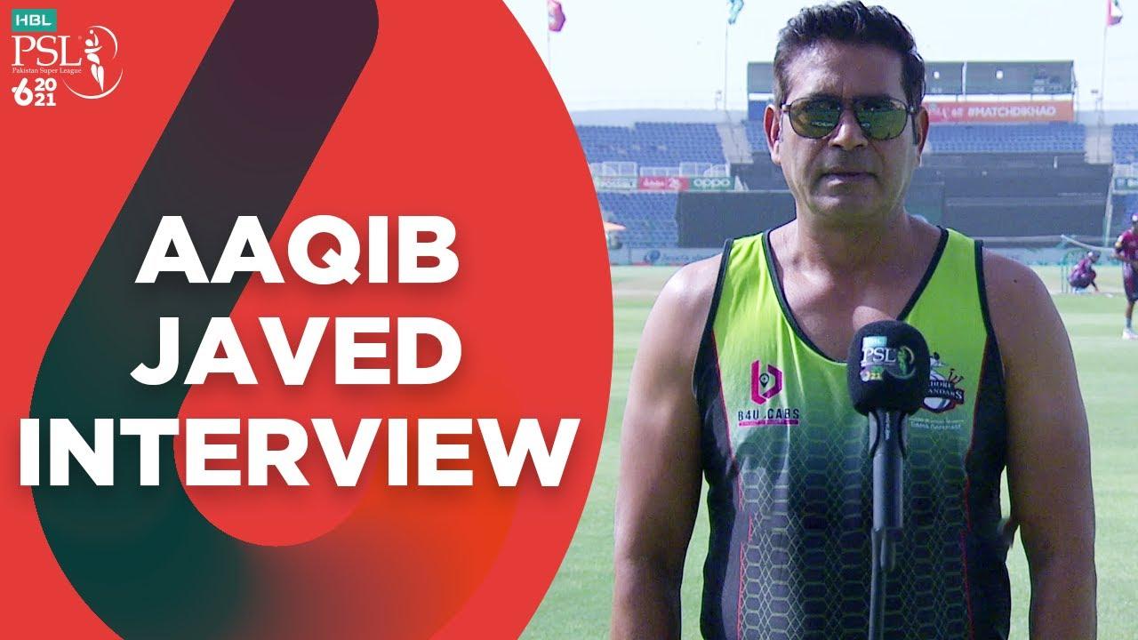 Aaqib Javed   Pre-Match Interview   #LQvQG   #HBLPSL6