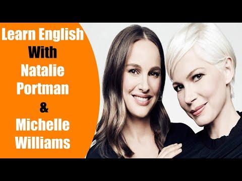 Improve Your English With Celebrity Conversation   Natalie Portman & Michelle Williams Big Subtitles