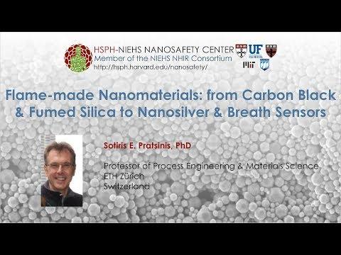 Flame-made Nanomaterials: from Carbon Black & Fumed Silica to Nanosilver & Breath Sensors