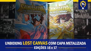 The Lost Canvas com capa metalizada - edições 16 e 17 | Mangás JBC | Unboxing