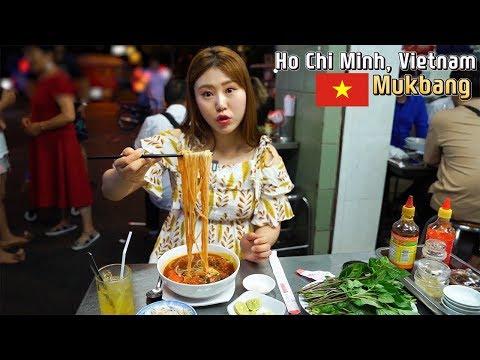 까니짱 야외먹방|베트남 호치민에서 인생 분짜와 넴을 먹었어요! 부이비엔 거리의 매콤한 쌀국수도 최고!