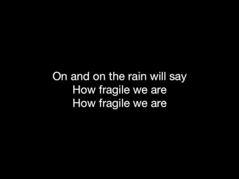 FRAGILE – HD With Lyrics! STING By: Chris Landmark