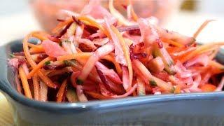 Салат капуста морковь свекла огурец Кладезь витаминов