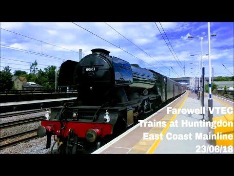 *Last Day Of VTEC* Trains At Huntingdon, ECML   23/06/18