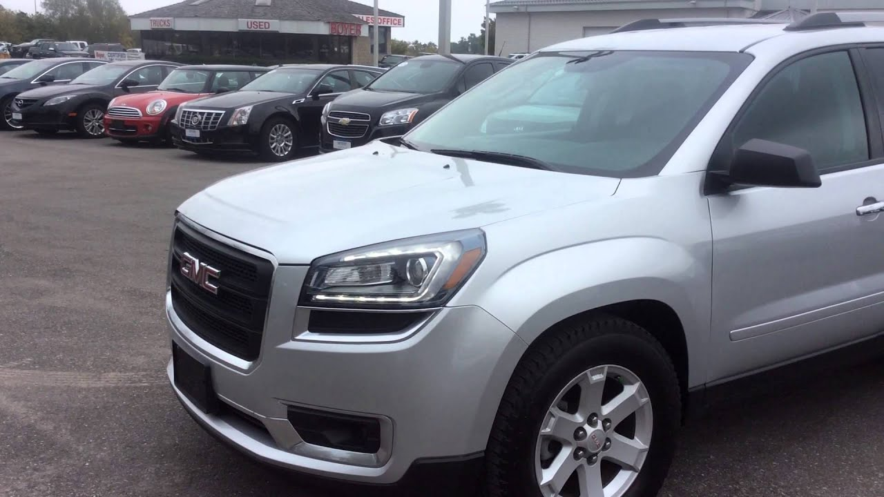 2014 gmc acadia awd sle review pickering on boyer pickering youtube. Black Bedroom Furniture Sets. Home Design Ideas