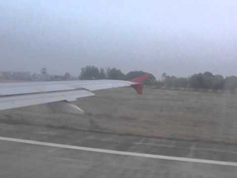 Air India A320 take-off from Lucknow.