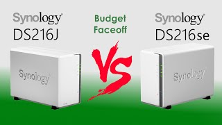 The Synology DS216J vs The DS216se - Which Budget NAS deserves your data in this price NAS compare