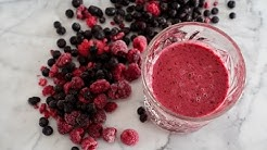 Raspberry smoothies with blueberries - awesome breakfast