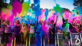Holi  FESTIVAL OF COLORS GoPro Hero3 Leverkusen Germany HD 1080p