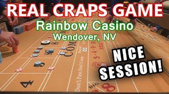 I LOVE CRAPS! - Live Craps Game #36 - Rainbow Casino, Wendover, NV - Inside the Casino