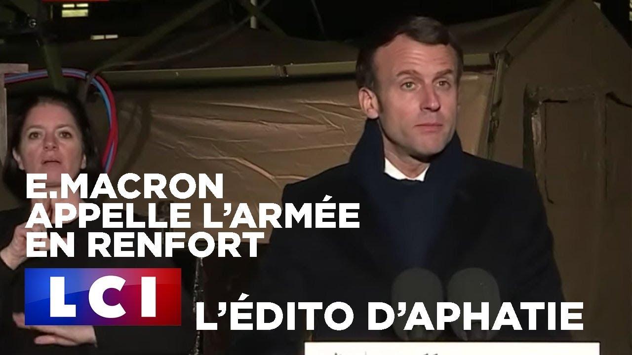 E.Macron appelle l'armée en renfort