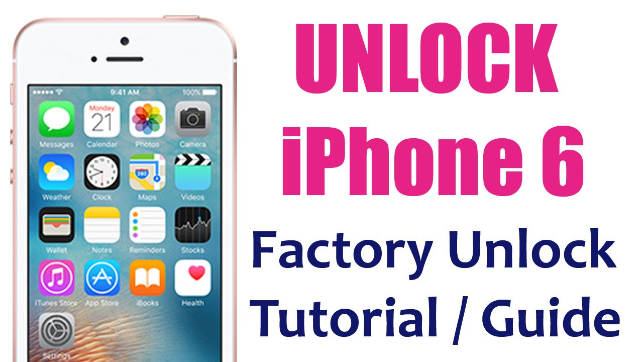 how to unlock iphone 6 plus unlocking tutorial guide permanent rh youtube com iPhone Unlock Software iPhone Unlock Service
