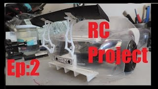 Sls Rc project | Ep:2/4 | design of diffuser, spoiler, car plate with solidworks