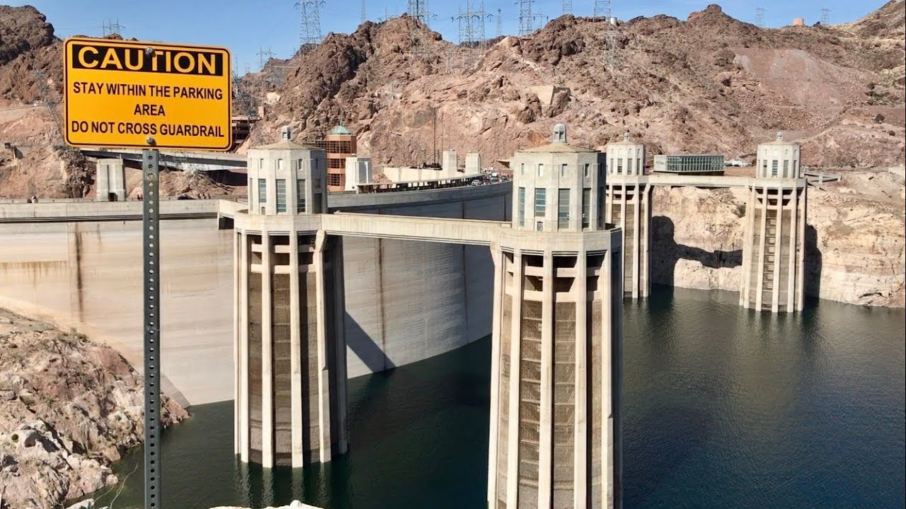 HOOVER DAM 1980s | The water level was basically to the ... |Hoover Dam Water