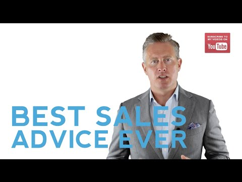 The Best Sales Advice I Ever Heard ?