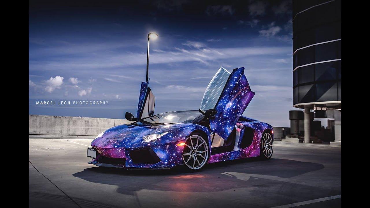 Luxury Cars 2015 2016 Lamborghini Aventador In Galaxy Wrap Youtube