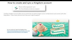 how to create and sync Kingdom account