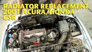 2001 Acura/Honda Gsr Radiator Replacement, Real Time -Ericthecarguy