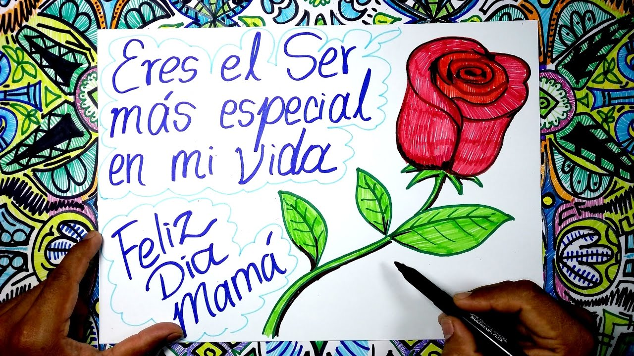 Como Dibujar Un Rosa Para El Dia De La Madre Youtube