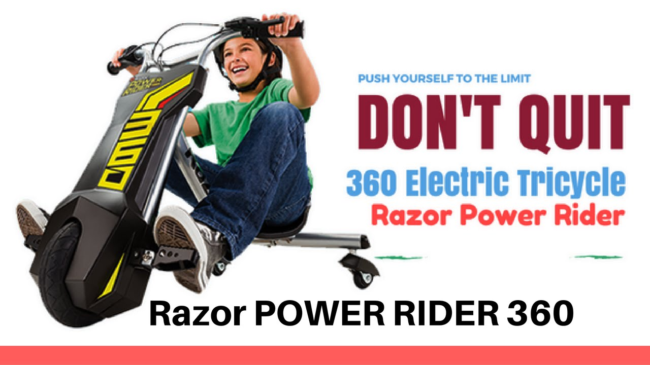 Razor Power Rider 360 Electric Tricycle From Baby Toys - YouTube