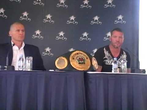Danny Green vs Paul Briggs boxing press conf 2 June 2010