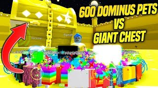 600 DOMINUS TIER 17 PETS vs GIANT DOMINUS CHEST IN PET SIMULATOR! *INSANELY FAST* (Roblox)