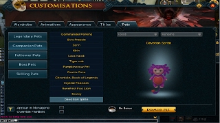 RuneScape Sprites be gone rewards Sprite pet + Costume!