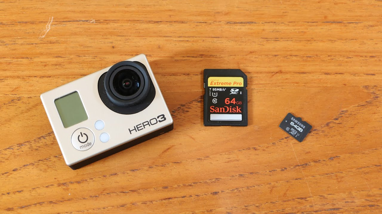 Howto use SD cards with GoPro Hero 3/3+ (e.g. SanDisk Extreme Pro and others)