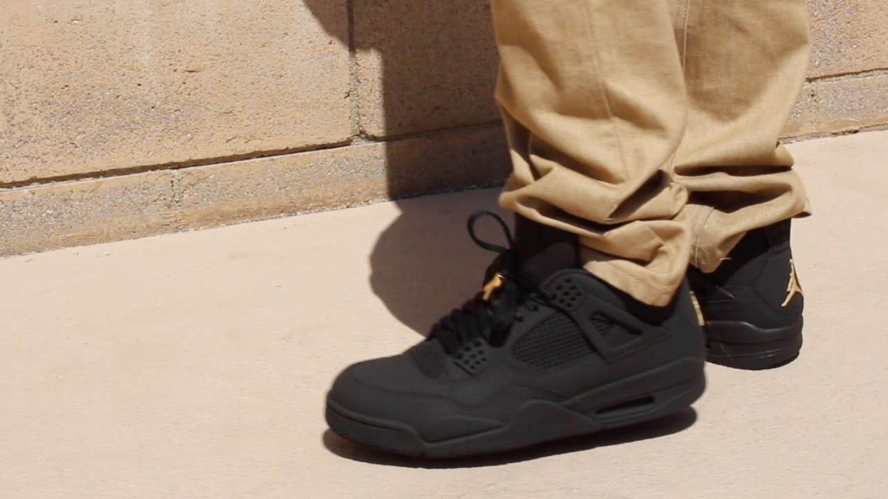 1e28c52e4ab5 Custom Matte Black 4 s On Foot! - YouTube
