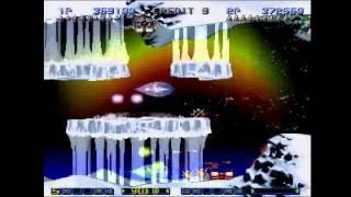 Gradius Gaiden (PS1) - Stage 1 Hardest Doubleplay 2nd Loop