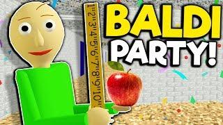 I Found the Secret Principle Party in Baldi's New School! - Baldi's Basics New Full Game Demo