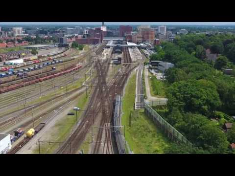 Amersfoort Trainspotting by Drone