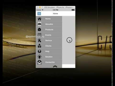 Sliding menu in Xamarin iOS using GestureRecognizer,CATransition and  Animation