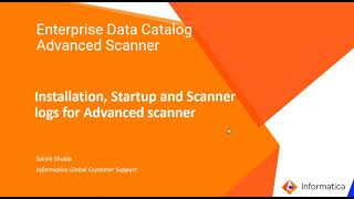 Installation, Startup, and Scanner Logs for EDC Advanced Scanner